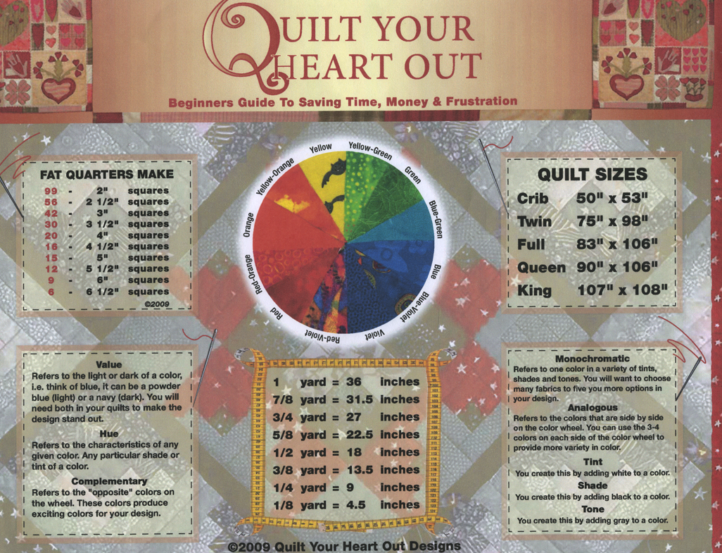 Quilting links and tips beginners quilting chart fabric size converter color wheel ect nvjuhfo Choice Image
